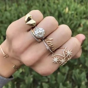 💎NEW💎 GOLD PLATED STARBURST RING